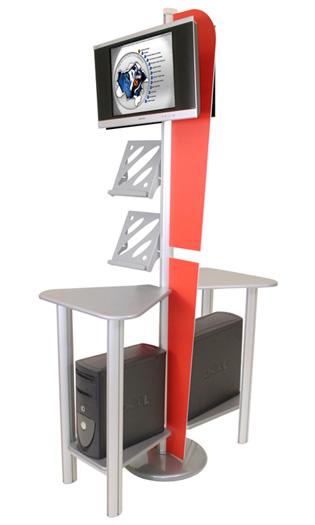 Linear Monitor Kiosk Kit 3